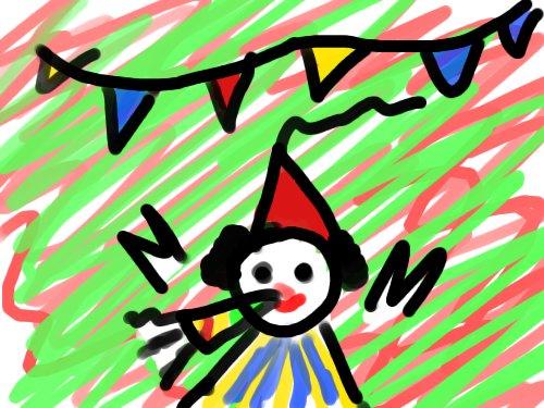 (gerecyclede tekening van mijn verjaardag)